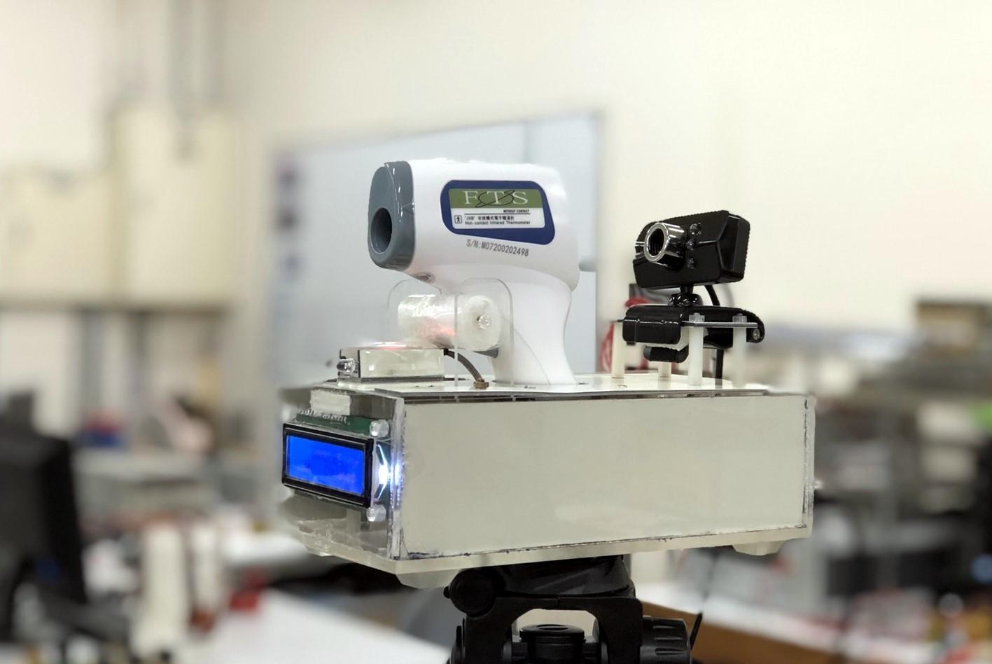 東華大學電機系研發之自動額溫槍量測裝置